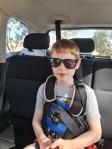 Alex sitting in the car